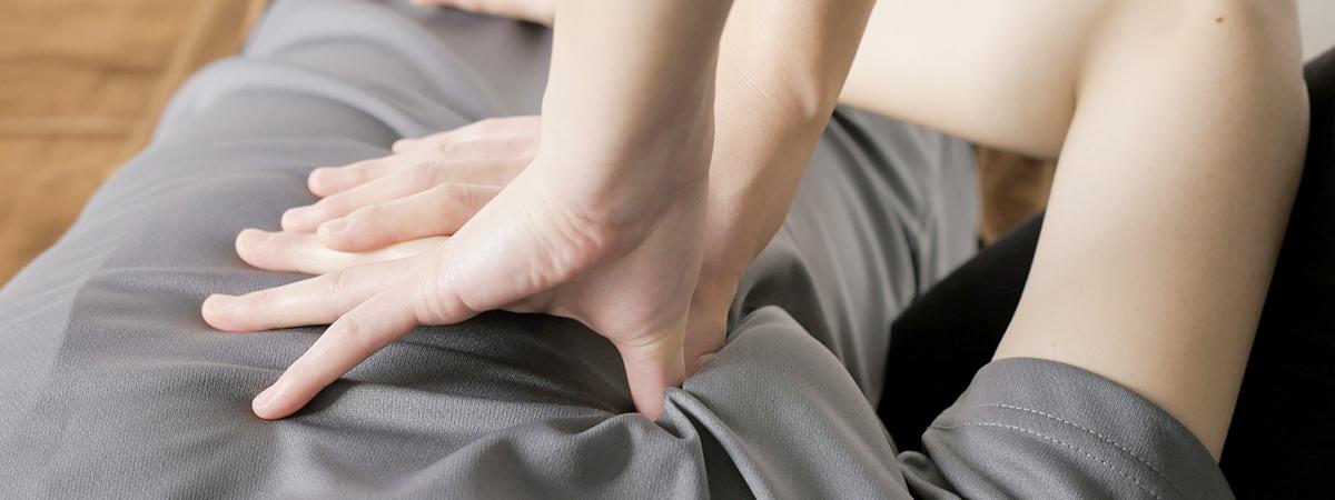 筋膜施術による広範囲施術のイメージ